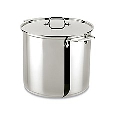 image of All-Clad® Stainless Steel 16 qt. Covered Stock Pot