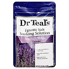 image of Dr. Teal's Therapeutic Solutions 48 oz. Epsom Salt Sleep Soaking Solution in Lavender