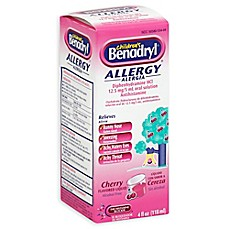 image of Benadryl Children's 4 oz. Allergy Liquid in Cherry Flavor