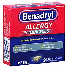 image of Benadryl® Dye-Free 24-Count Allergy Softgels