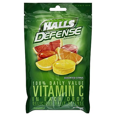 Halls Defense 30-Count Vitamin C Cough Drops in Citrus ...