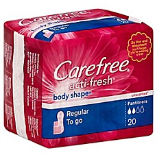 image of Carefree Acti-Fresh 20-Count Unscented Pantiliners