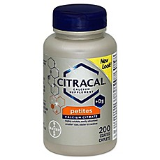 image of Citracal® Petites 200-Count Calcium Supplement Coated Tablets