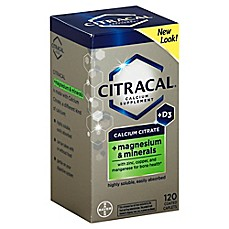 image of Citracal® + Magnesium 120-Count Calcium Supplement Coated Tablets