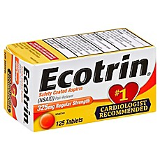image of Ecotrin 125-Count Regular Strength Tablets