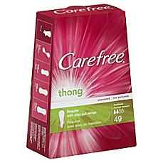 image of Carefree® Thong 49-Count Regular Unscented Pantiliners