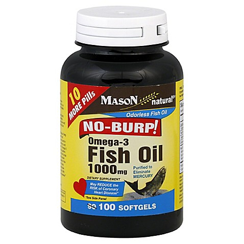 Mason no burp 100 count fish oil bed bath beyond for Odorless fish oil