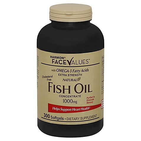 Harmon face values 300 count extra strength natural fish for Fish oil for add