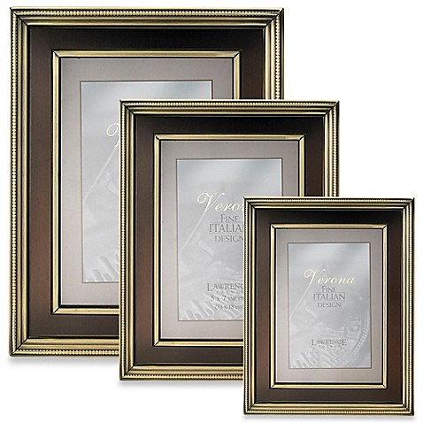 Lawrence Frames Brushed Brass Picture Frame With Bronze