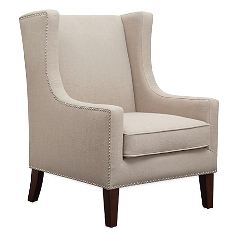 wing back accent chairs madison park biltmore wing chair in linen bed bath amp beyond 22164 | 50059143254903p?$478$