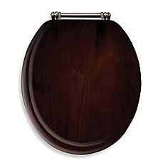 image of Ginsey Round Toilet Seat in Wood