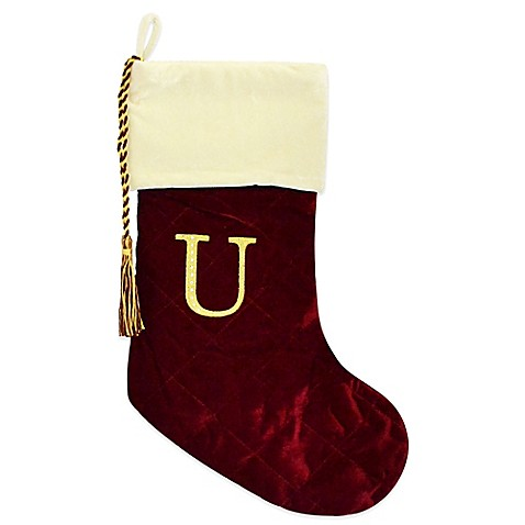Bed Bath Beyond Red Initial Christmas Stockings