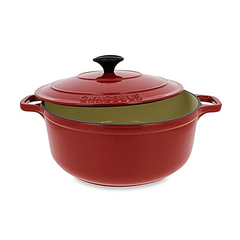 Chasseur® 3.25-Quart Cast Iron Round Casserole in Red