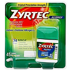 image of Zyrtec 45-Count 10 mg Tablets