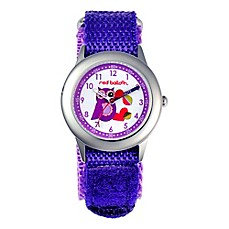 image of Red Balloon Children's 32mm Purple Owl Time Teacher Watch in Stainless Steel with Purple Strap