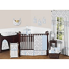 image of Sweet Jojo Designs Avery Crib Bedding Collection in Blue and Grey