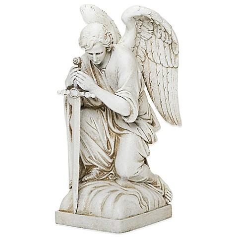 Joseph S Studio Kneeling Male Angel Garden Statue Bed