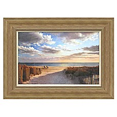 image of sunset beach framed wall art