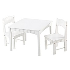 image of Tree House Lane Table and 2 Chairs Set in White