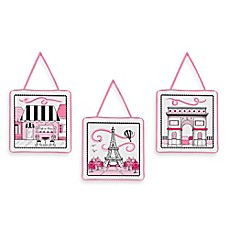 image of Sweet Jojo Designs Paris 3-Piece Wall Hanging Set