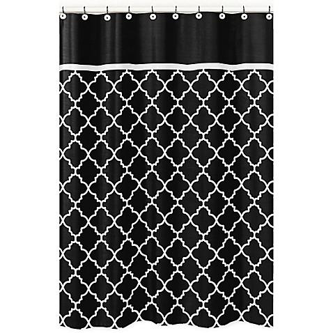 Sweet jojo designs trellis shower curtain in black and for Sweet jojo designs bathroom