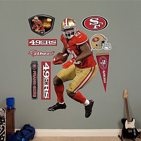Buy fathead nfl san francisco 49ers frank gore wall for 49ers wall mural