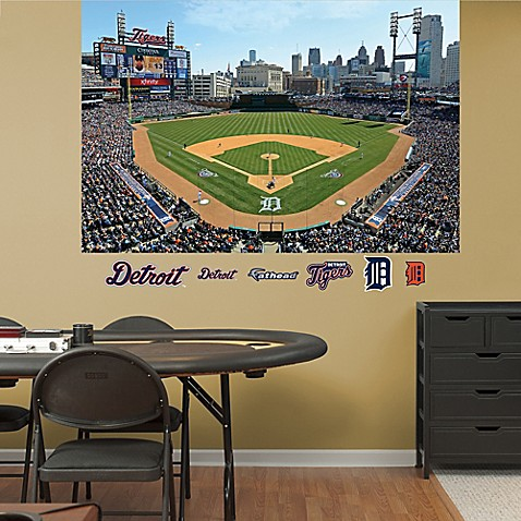 Buy fathead mlb detroit tigers stadium mural wall graphic for Comerica park wall mural