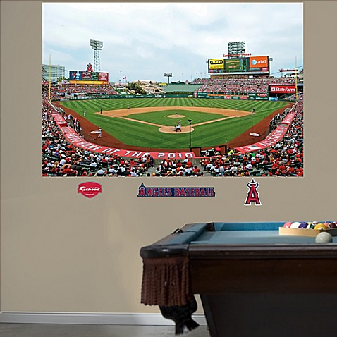 Fathead mlb los angeles angels stadium mural wall graphic for Baseball stadium wall mural