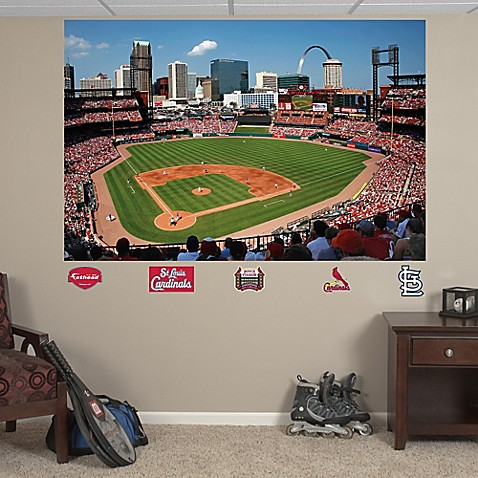 Fathead mlb st louis cardinals stadium mural wall for Baseball stadium wall mural