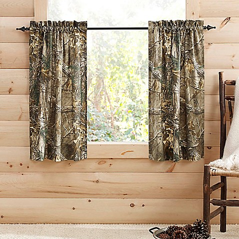 Realtree Xtra Window Curtain Tier Pairs Bed Bath Beyond - Bedding comforter set realtree xtra