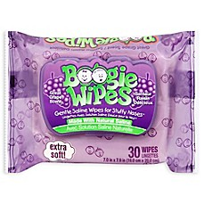 image of Boogie Wipes® 30-Count Saline Wipes in Grape Scent
