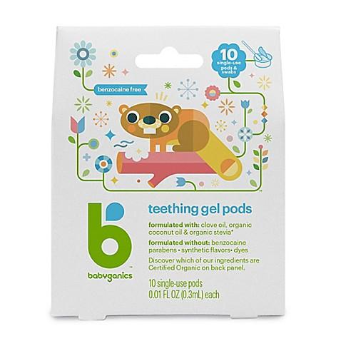 Babyganics 174 Benzocaine Free Gel Teething Pods 10 Single