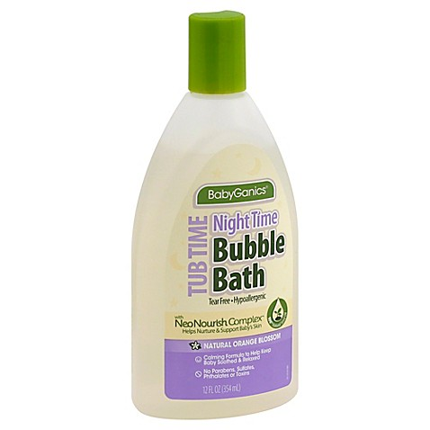 Babyganics 174 12 Oz Night Time Bubble Bath In Orange