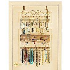 Image Of Over The Door Jewelry Organizer In Bronze