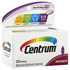 image of Centrum® Ultra 120-Count Multivitamin and Multimineral Supplement Tablets for Women