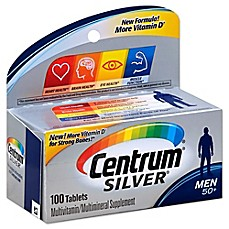 image of Centrum® Silver® 100-Count Men 50+ Multivitamin/Multimineral Supplement Tablets