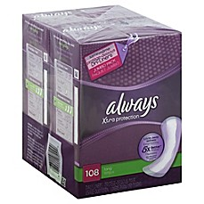 image of Always Dri-Liners 108-Count Long Unscented Pantiliner