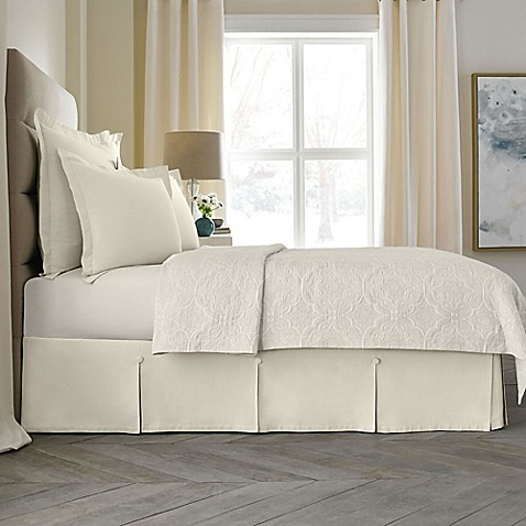 wamsutta 174 collection button pleated bed skirt bed bath