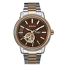 image of Bulova Men's 45mm Automatic Movement Watch in Two-Tone Stainless Steel