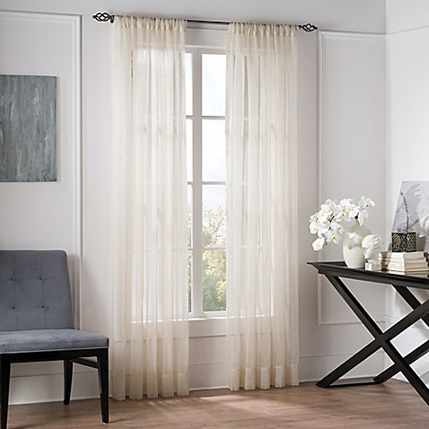 Valeron Natural Sheer Window Curtain Panel Bed Bath Amp Beyond