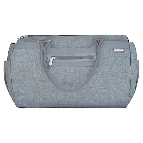 buy jj cole parker weekender diaper bag in grey heather from bed bath beyond. Black Bedroom Furniture Sets. Home Design Ideas