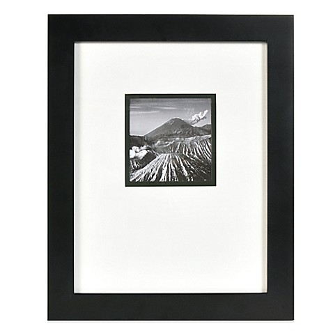 Buy Real Simple 174 Black Wood Wall Frame With White Over