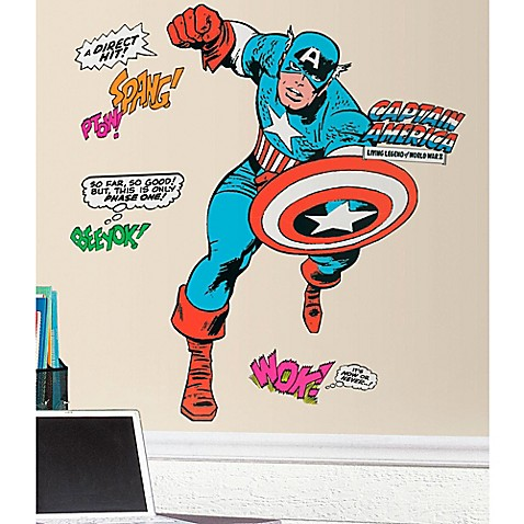 Marvel Classic Captain America Peel And Stick Giant Decals