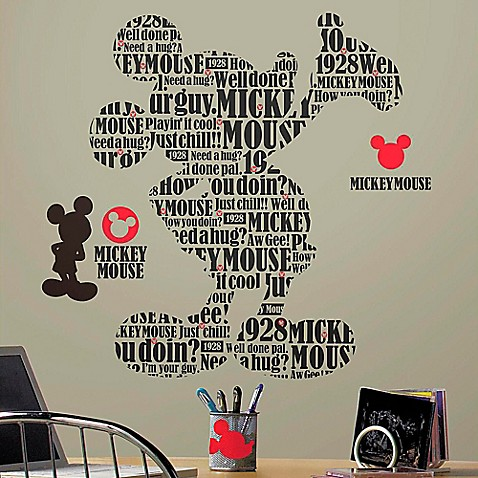 disney 174 mickey and friends typography mickey peel and wall decal cute mickey and minnie wall decals mickey and