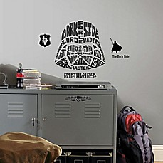 Image Of Disney® Star Wars™ Typographic Darth Vadar Giant Peel And Stick Wall  Decals Part 94