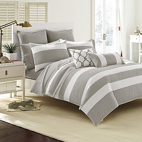 southern breakwater comforter set in nautical grey