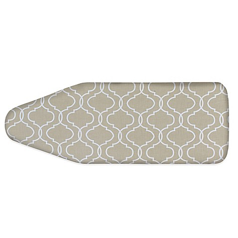 Perfect Extra Wide Ironing Board Cover In Taupe