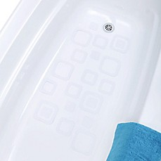 image of SlipX Solutions® 21-Count Adhesive Square Bath Treads