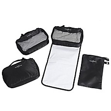 image of Obersee 4-Piece Diaper Bag Conversion Kit in Black