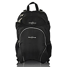 image of Obersee Rio Diaper Bag Backpack with Detachable Cooler in Black